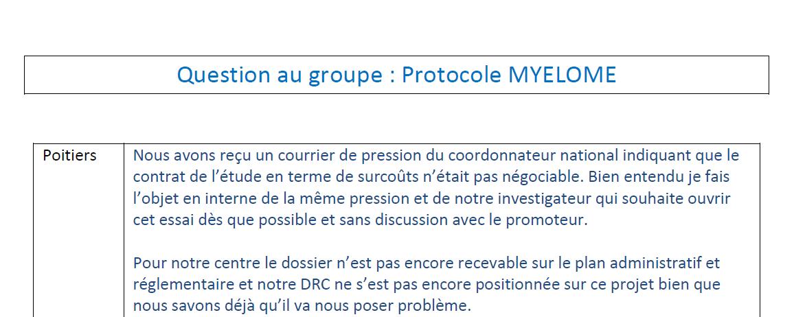 Etude Myelome